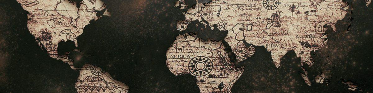 Contact pagina wereldkaart