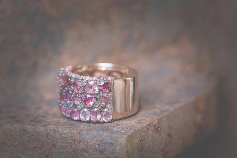 Fred's Choice - 18 krt. rosegouden ring met roze toermalijn-mix - 001