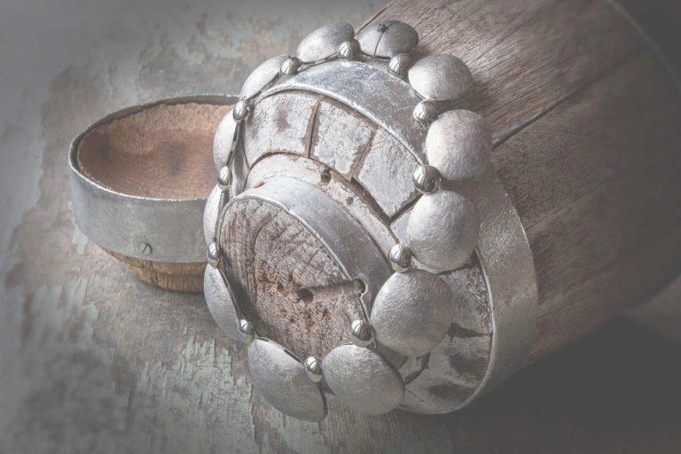 Fred's Choice - Zilveren collier geborsteld - 001